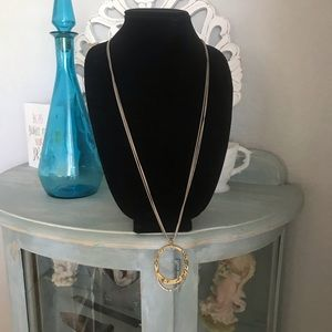 Chico's Long Circle Necklace